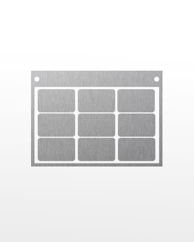 Panneaux d'application Multipanel pour nuanciers métalliques