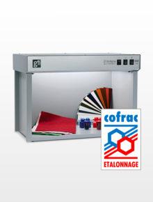 Etalonnage COFRAC - spectrocolorimètres - brillancemètres - standards de brillant - cabines à lumière